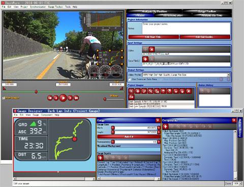 メーター付動画作成ソフト,『DashWare』。