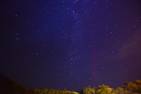 白馬のホテルにて。星が降ってくるような夜空でした。